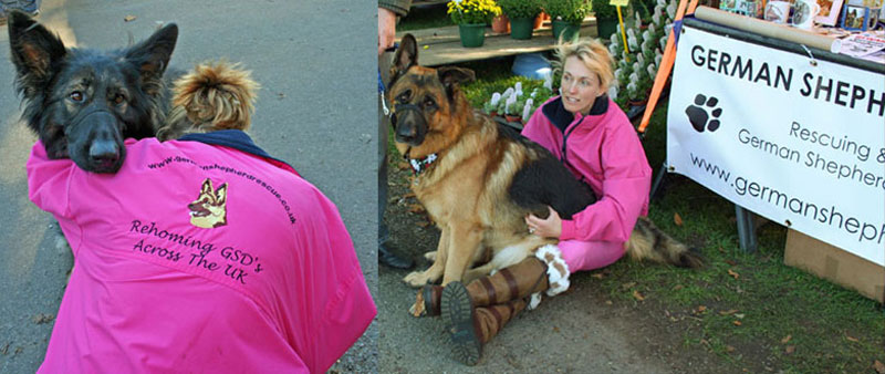 gsdr volunteer wearing a pink jacket